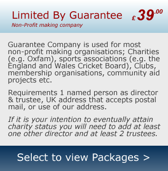 Company Formation Limited by Guarantee